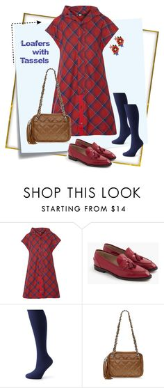 """""""Tassel Loafers"""" by sojazzed ❤ liked on Polyvore featuring Post-It, Y-3, J.Crew, Apt. 9, Buti, Les Néréides, jcrew, plaid and loafers"""
