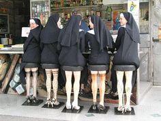 nuns1 lg optical illusion-sitting on stools