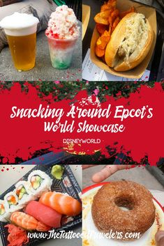 Snacking around EPCOT's World Showcase is a challenge where you partake in at least one entree or dessert plate from each of the 11 represented countries. Disney World Essen, Disney World Food, Disney World Planning, Disney Worlds, Disney World Honeymoon, Walt Disney World Vacations, Disney Travel, Frozen Margaritas, Disney World Tips And Tricks