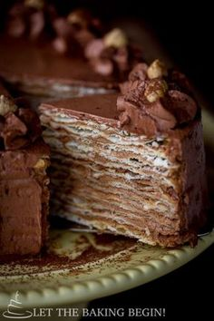 Mikado – Layer Cake with Chocolate Custard Buttercream – Let the Baking Begin!