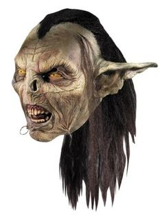 This Lord of the Rings accessory includes a LOTR Moria orc mask with hair and face rings. This LOTR Moria orc mask is a full overhead collectible mask. Creepy Halloween Party, Unique Halloween Costumes, Halloween Cosplay, Halloween Masks, Halloween Stuff, Tolkien, Mascaras Halloween, Skeleton Mask, Scary Mask