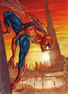 Spider-Man in Dubai! by Marco Santucci Pro Spider-Man Marvel Comics Art, Marvel Heroes, Marvel Avengers, All Spiderman, Amazing Spiderman, Cry Anime, Anime Art, Comic Books Art, Comic Art