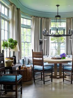 Curved brass pole  STEVEN GAMBREL | Mark D. Sikes: Chic People, Glamorous Places, Stylish Things
