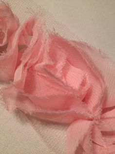 Light Pink Chiffon Flowers by MonAmiePaperie on Etsy, $5.44