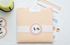 Our DIY wedding invitations