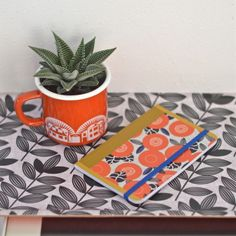 carnet Grosses fleurs oranges Mr&Mrs Clynk
