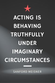 Love this quote! (Even though I'm not a theatre major anymore)