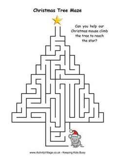 Christmas Tree Maze 4 – About Holiday Parties Christmas Worksheets, Christmas Activities For Kids, Christmas Printables, Xmas Games, Christmas Maze, Christmas Colors, Christmas Holidays, Xmas Crafts, Christmas Projects