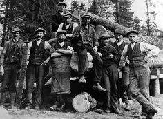 Tour Scotland Photographs: Old Photograph Forestry Workers Highland Perthshire Scotland
