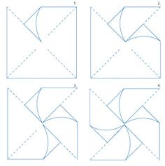 Pinwheel Template... buy double sided paper when hobby lobby, michaels, and joanns has a sale