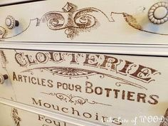4 the love of wood: ARTICLES DE PARIS - french dressing chest   --- I have to try this HAVE TO, HAVE TO!    The 4 The Love of Wood Blog is VERY inspirational!!