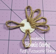 Diy Crafts - Hi everyone. Bonnie from Really Reasonable Ribbon here today with a tutorial for an easy Jute Loopy Flower embellishment. Twine Flowers, Cloth Flowers, Diy Flowers, Fabric Flowers, Paper Flowers, Crafts For Teens To Make, Diy And Crafts, Twine Crafts, Fleurs Diy