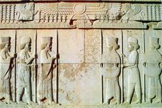Apadana Hall, Persian and Median soldiers at Persepolis[ was the ceremonial capital of the Achaemenid Empire (ca. Ancient Ruins, Ancient Greece, Ancient Art, Ancient History, Art History, Architecture Background, Architecture Wallpaper, Persian Architecture, Ancient Architecture