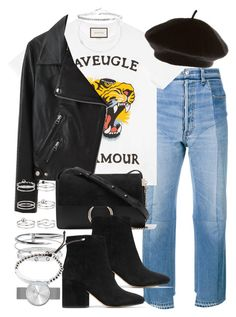 """Sin título #4355"" by hellomissapple on Polyvore featuring moda, Vetements, Gucci, Lowie, Acne Studios, Chloé, Sam Edelman, Miss Selfridge, Cartier y Marc by Marc Jacobs"