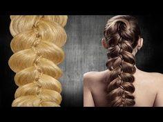 Five strand slide up braid tutorial Pigtail Hairstyles, Dance Hairstyles, Braided Hairstyles, Medium Hair Styles, Long Hair Styles, Hair Videos, Hair Designs, Hair Hacks, New Hair