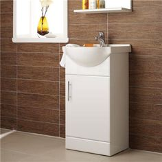 Alaska 450mm Small Vanity (High Gloss White - Depth 300mm) Profile Image