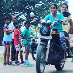 indian lady riding bike 379 - IndiaGirlsOnBike - Women Empowerment Of India