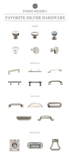 p/silver-hardware-roundup-studio-mcgee - The world's most private search engine Kitchen Cabinet Hardware, Bathroom Hardware, Kitchen Handles, Bathroom Cabinets, Bronze Bathroom, Drawer Hardware, Hardware For Cabinets, Kitchen Knobs And Pulls, Hardware Pulls