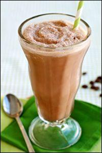 Hungry Girl recipe for guilt-free Mocha Milkshake. Pin and make today!