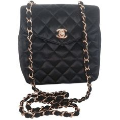 823007b45263 The Chanel Quilted Mini Satin Flap with Gold Chain Black Cross Body Bag is  a top 10 member favorite on Tradesy.