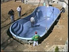 fiberglass swimming pools - YouTube. Learned how our pool is being installed this week