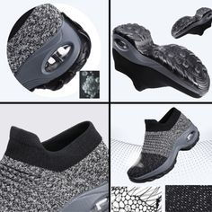 Women's Walking Shoes Sock Sneakers - Off – Geetshop, Inc Stylish Walking Shoes, Buy Shoes Online, Shoe Wardrobe, Childrens Shoes, Sock Shoes, Girls Shoes, Shoes Women, Comfortable Shoes, All Black Sneakers