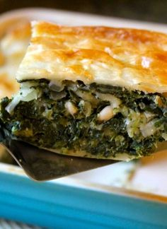 Great vegetarian meal! Deep Dish Spinach Pie | cooking with my kid