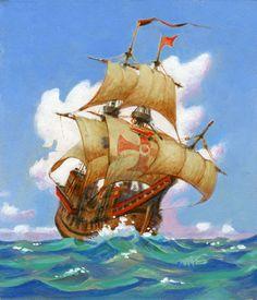 Ashore Galleon