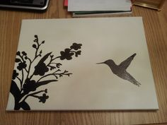 I made this hummingbird painting on canvas a few weeks back. Hummingbird Painting, Hobby Ideas, Art Work, Canvas Art, Artsy, Craft Ideas, Diy Crafts, Paintings, Drawings
