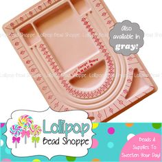 """PINK Bead Design Board 12 7/8"""" x 9 3/8"""" Bead Tray Flocked Bead Board Bead Mat Jewelry Design Beading Chunky Necklace Jewelry Making Supplies by Lollipop Bead Shoppe"""