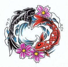koi-fish-yin-yang-tattoo-design-beautiful.jpg (600×598)