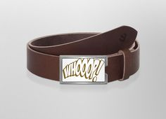 Belt WHOOOP! | Wechselwild Belt with interchangeable designs  #belt #buckle #guertel #guertelschnalle #lederguertel #leder #leatherbelt #leather #typography #whoop! #funny #yaso