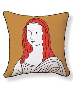 Loving this Mona Lisa Throw Pillow on #zulily! #zulilyfinds