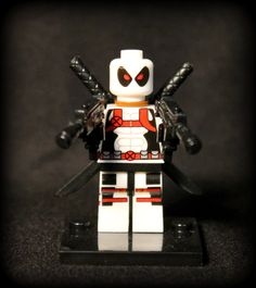 Custom Special Edition White Deadpool Minifigure. Lego Compatible. by AwesomeBrix on Etsy