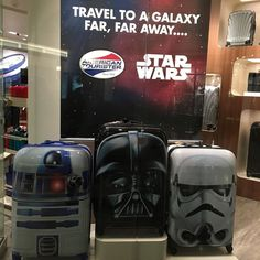 Everything for nerds. Welcome to US - hey said. #samsonite #starwars #luggage #us #welcomeback by theoriginaljairo