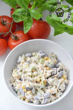 sałatka z czerwona fasola i jajkiem Keto Diet For Beginners, Snacks, Vegan, Potato Salad, Keto Recipes, Salads, Lose Weight, Rice, Tasty