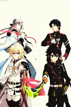 Owari no Seraph/ Seraph of the End Mikaela Hyakuya, Yuichiro, Ferid, Guren All Anime, Me Me Me Anime, Anime Manga, Anime Guys, Anime Art, Mika Y Yuu, Otaku, Mikaela Hyakuya, Fanart