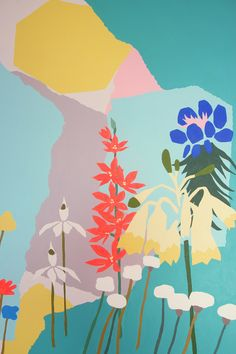 Australian natives by Leah Bartholomew, nature, design, floral, screen print, illustration
