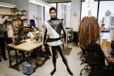 Principal dancer Amar Ramasar in his costume for The Destroyer character, which has since been reenvisioned and is being reconstructed with just one week to the production's premiere.