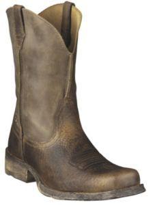 Ariat Rambler Men's Brown Bomber Wide Square Toe Western Boots | Cavender's