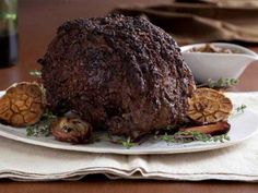 Chuck's Rib Roast With Mushroom Crust. - Chuck's mushroom-crusted rib roast makes an impressive, elegant main dish for Christmas dinner. | Recipes courtesy Chuck Hughes, Show: Chuck's Day Off,Episode: The Butchers