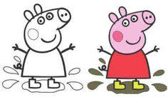 для раскраски - свинка Пеппа