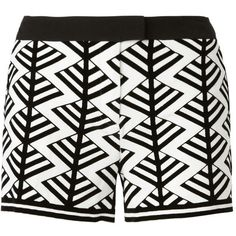 Sass & Bide The Looking Glass Flock Print Tailored Short ($290) ❤ liked on Polyvore