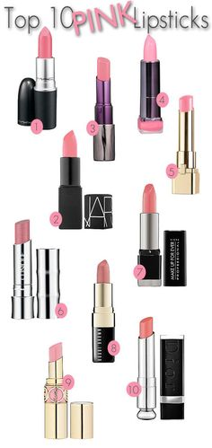 Top 10 Pink Lipsticks: Popping
