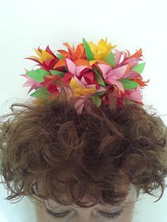 Paperflowers crown, papercraft, paperart, paperflowers