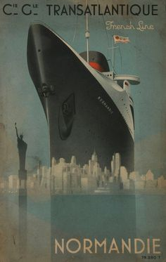 Poster On, Poster Wall, Poster Prints, Poster Sizes, Estilo Art Deco, Art Deco Posters, Ship Art, Vintage Travel Posters, Illustrations