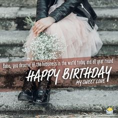 Cute Birthday Messages, Cute Birthday Wishes, Birthday Wishes For Girlfriend, Message For Girlfriend, Happy Birthday Me, Birthday Quotes, Wishes For You, Love Is Sweet, Girlfriends
