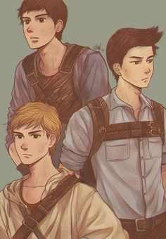 The maze runner Fan art - Minho Newt and Thomas, it's cool because I actually imagined them looking like this <3