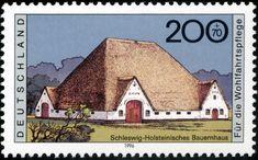Stamp Germany 1996 Briefmarke Bauernhaus Schleswig-Holstein.jpg