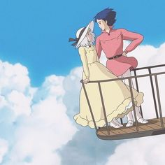 Find images and videos about anime, studio ghibli and howl's moving castle on We Heart It - the app to get lost in what you love. Studio Ghibli Films, Art Studio Ghibli, Howls Moving Castle Wallpaper, Howl Pendragon, Personajes Studio Ghibli, Howl And Sophie, Old Anime, Animation, Hayao Miyazaki